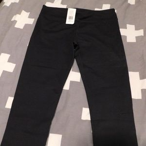 NWT - Solid Black Workout Crops